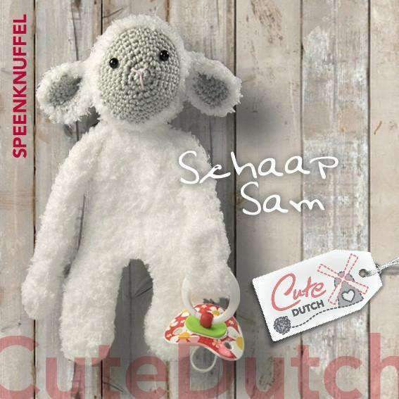 CuteDutch Haakpatroon PDF Haakpatroon Speenknuffel schaap Sam (download)