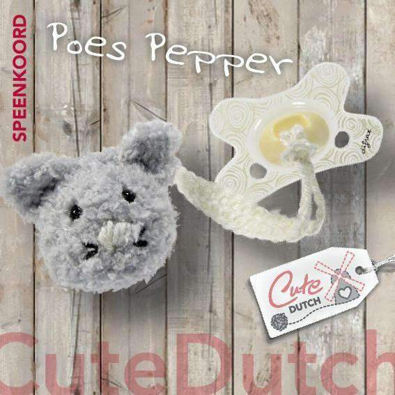 CuteDutch Haakpatroon PDF Haakpatroon Speenkoord poes Pepper (download)