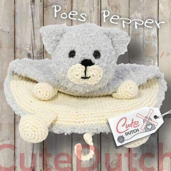 CuteDutch Haakpatroon PDF Haakpatroon Tutteldoekje poes Pepper (download)