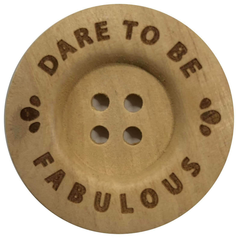 G Brouwer & Zn B.V. Durable Knopen Dare to be fabulous 40mm (2 stuks)