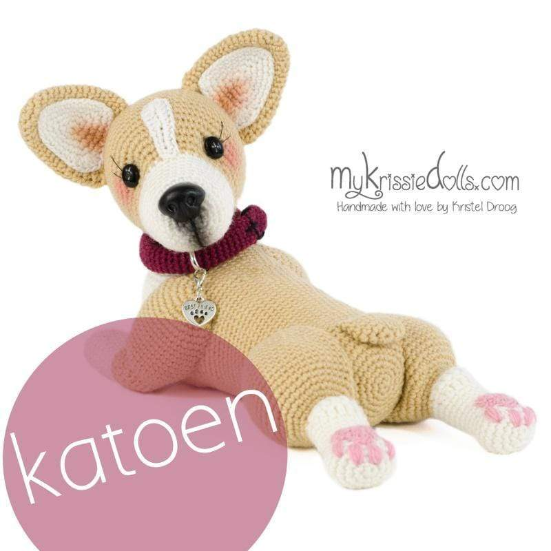 Shop MyKrissieDolls DoggyBag Welsh Corgi Amy - Katoen
