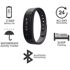 Laud Smart Wireless Fitness Wristband Smart Watch LXFB8 (Black)