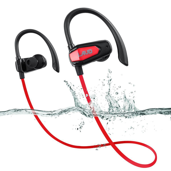 Laud Sport Water Resistant Bluetooth Earbuds for Gym, Workouts, Running