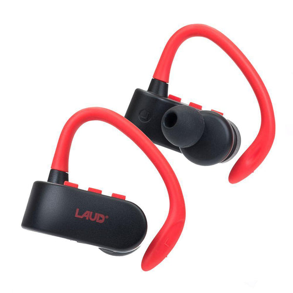 True Wireless Stereo Bluetooth Headphones Earphones Sweatproof In-Ear w/ Mic (Red)