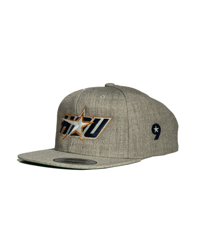HOU Gold Star Snapback - Heather Gray