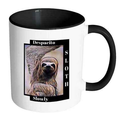 Sloth Dances Despacito - Mug (White with Accent Colors)