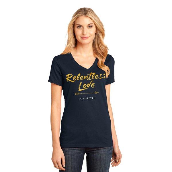 "Ladies ""Relentless Love"" T-Shirt (Navy)"