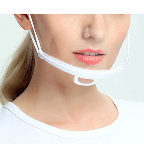 Reusable Plastic Transparent Half Face Mask