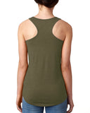 J##p Paws Ladies' Racerback Tank, Animal Lovers Military Green