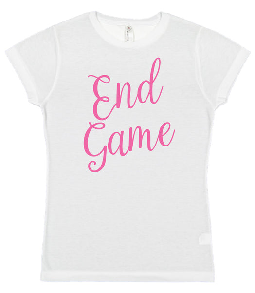End Game Junior Fit 100% Polyester Crew Neck Short Sleeve Tee JUNIOR SIZES