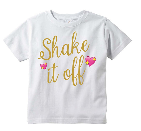 Shake it Off T-shirt LADIES SIZE Polyester Short Sleeve Women Crew Neck Tee