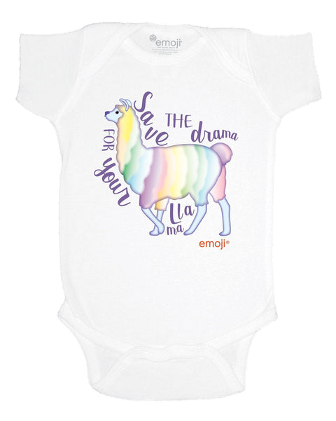 emoji® Save the Drama for your Llama Infant Bodysuit