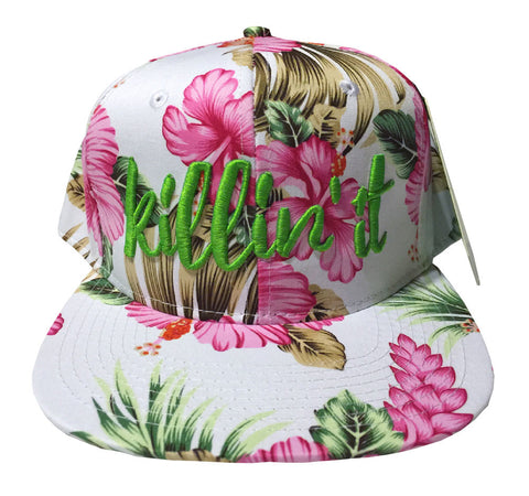 Killin' It Hawaiian Floral Snapback Hat