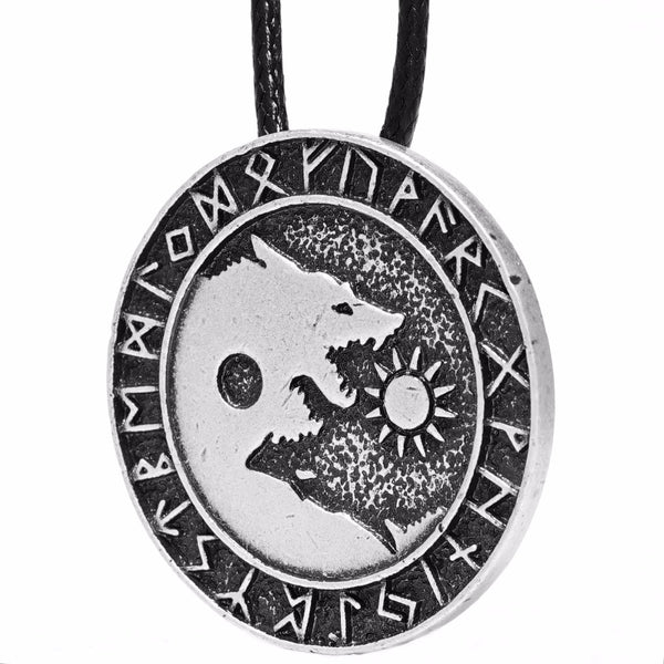 Yin & Yang Wolf Necklace