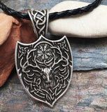 Stag and Vegvísir Pendant