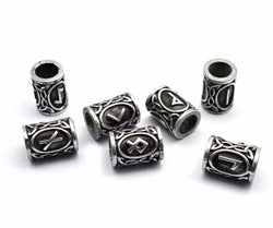 Silver Norse Rune Beads