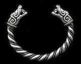 viking wolf arm ring bracelet antique silver