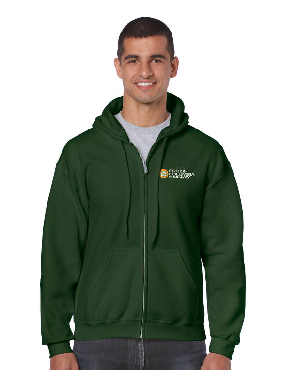 Hoodie Zip CN - British Columbia Railway - Dogwood Logo Zippered