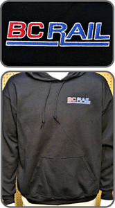 BC Rail New Logo Hoodie Black Casual Ts Apparel and Souvenirs