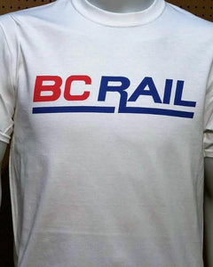 BC Rail with the New Red and Blue Logo Casual Ts Apparel and Souvenirs