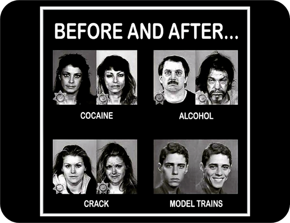 Before and After Model Trains Casual Ts Apparel and Souvenirs