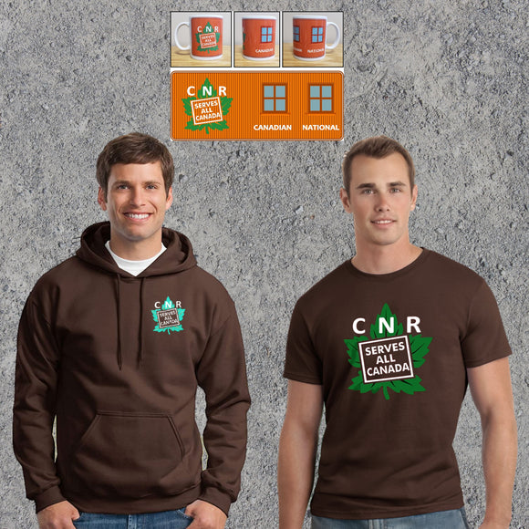 Combo - CNR Serves All Canada - Dark Chocolate - Hoodie T-Shirt Mug Combo