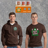 CNR Serves All Canada - Dark Chocolate - Hoodie T-Shirt Mug Combo