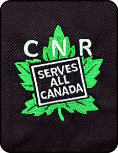 Canadian National Railways Serves All Canada Black Work Shirt Casual Ts Apparel and Souvenirs