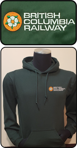 British Columbia Railway Dogwood Logo Hoodie Green Casual Ts Apparel and Souvenirs