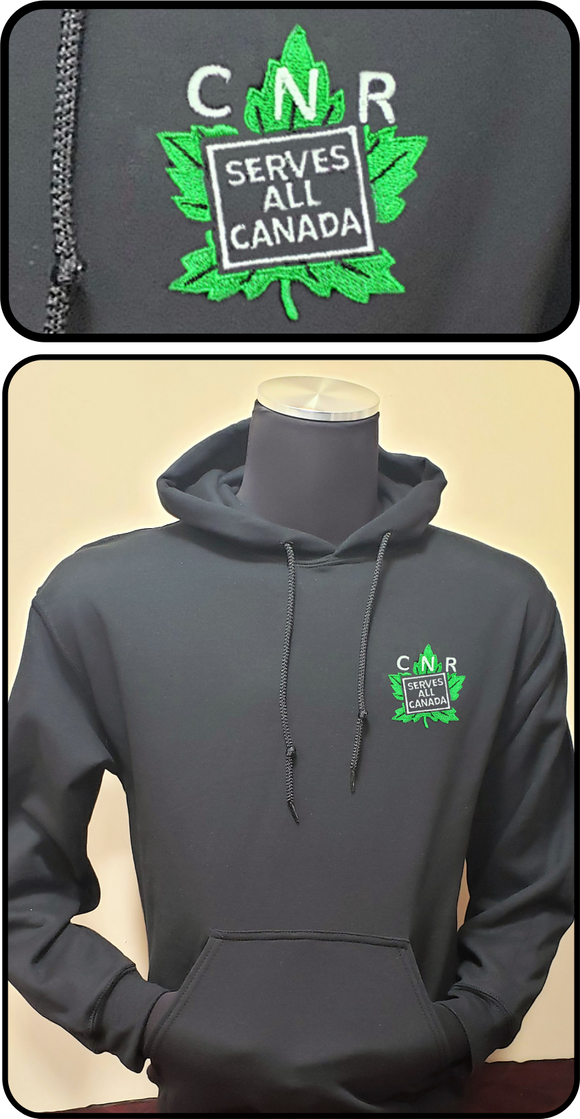 CNR Canadian National Railways Serves All Canada Hoodie Black Casual Ts Apparel and Souvenirs