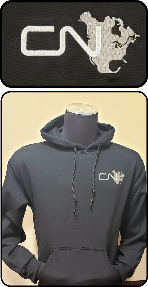 Canadian National North America Logo Hoodie Black Casual Ts Apparel and Souvenirs