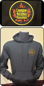 Canadian National Railways Round Tender Herald Hoodie Black Casual Ts Apparel and Souvenirs