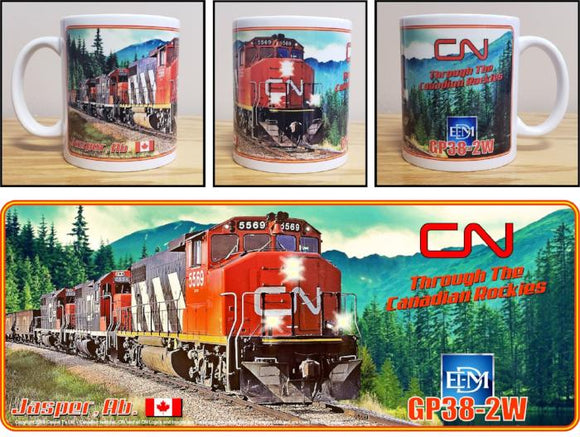 CN Canadian National GP38-2W Jasper Alberta Mug Casual Ts Apparel and Souvenirs