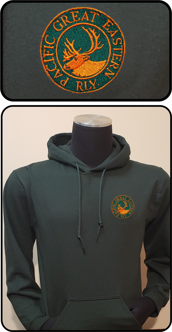 CN - PGE - Pacific Great Eastern Dark Green Hoodie Casual Ts Apparel and Souvenirs