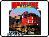 CN Mainline Revolution ES44DC Canadian National General Electric Diesel Logo Casual Ts Apparel and Souvenirs