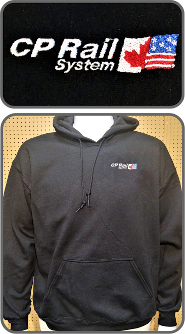 Hoodie Canadian Pacific Rail System Black