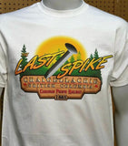 Canadian Pacific Railway The Last Spike BC graphic T-shirt Casual Ts Apparel and Souvenirs