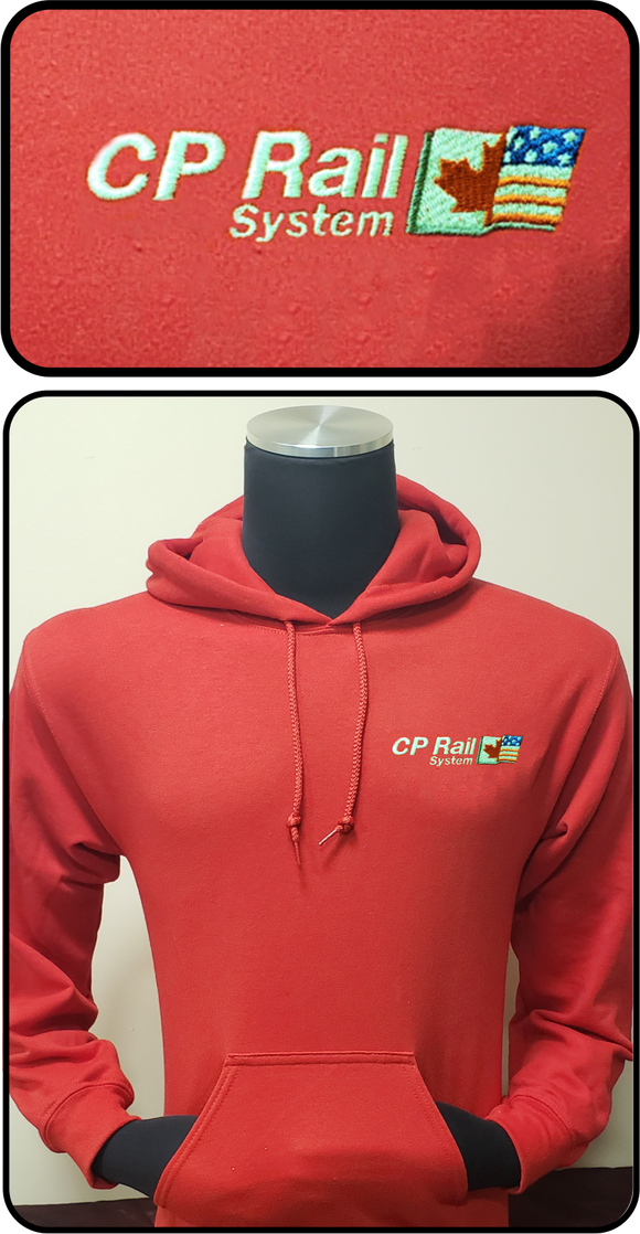 Canadian Pacific Rail System Logo Hoodie Red Casual Ts Apparel and Souvenirs