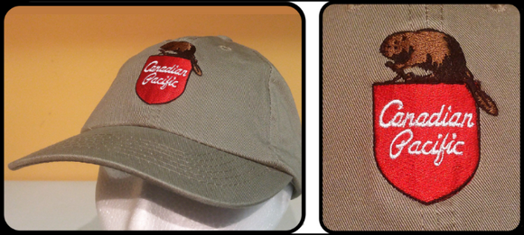 CP - Canadian Pacific Beaver Shield Ellite Gray Baseball Cap Casual Ts Apparel