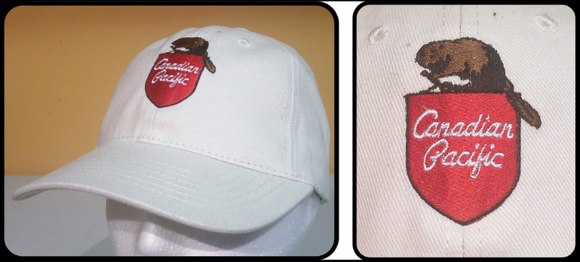 CP Canadian Pacific Beaver Shield Basesball Cap Ivory Casual Ts Apparel
