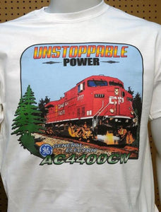 CP Unstoppable Power AC4400CW graphic logo Casual Ts Apparel and Souvenirs