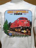 CP Unstoppable Power AC4400CW graphic logo T-shirt Casual Ts Apparel and Souvenirs