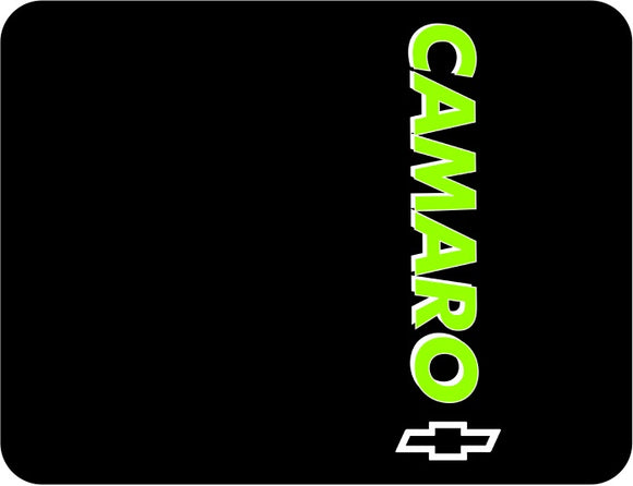 Chevrolet Camaro Black Logo Green Words Casual Ts Apparel and Souvenirs