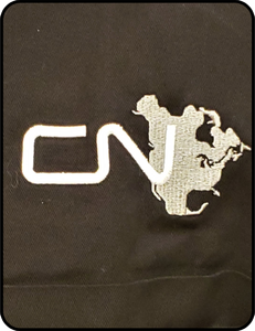 CN North America Logo Black Work Shirt Casual_Ts_Apparel_and_Souvenirs