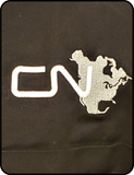 CN North America Logo Black Work Shirt Casual Ts Apparel and Souvenirs