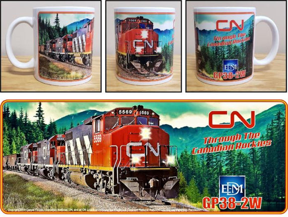 Canadian_National_GP38-2W_Through_the_Canadian_Rockies_Ceramic_Mug_Casual_Ts_Apparel_and_Souvenirs
