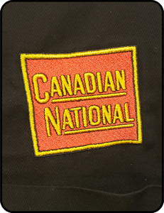 Canadian National Square Tender Herald Work Shirt Black Casual Ts Apparel and Souvenirs