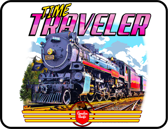 Canadian Pacific - Empress 2816 Time Traveler graphic logo Casual Ts Apparel and Souvenirs