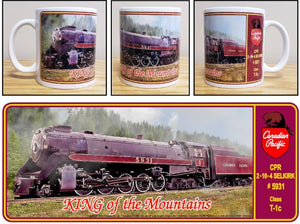 Canadian_Pacific_King_of_the_Mountains_2-10-4_Selkirk_Steam_Locomotive_T1c_Ceramic_Mug_Casual_Ts_Apparel_and_Souvenirs