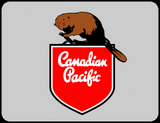Canadian Pacific 1950's Beaver Shield Logo Casual Ts Apparel and Souvenirs